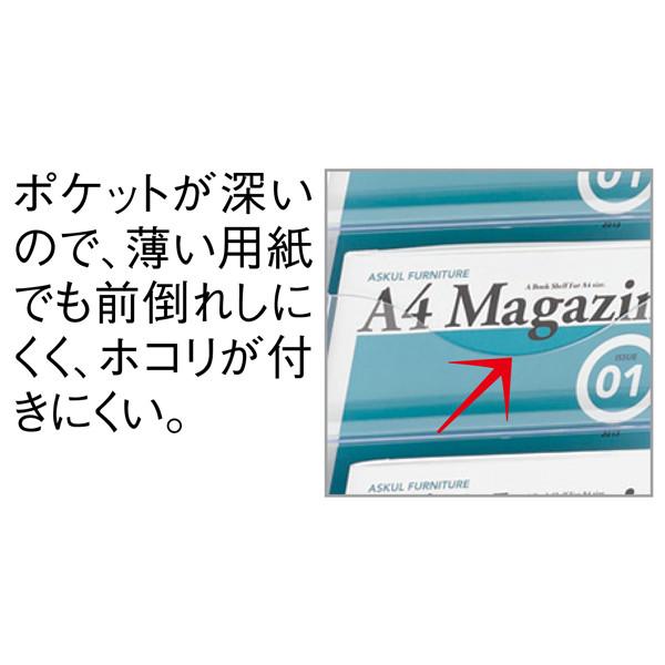 トヨダプロダクツ 樹脂ポケット付パンフレットスタンド 3列 PS-310CN 1台