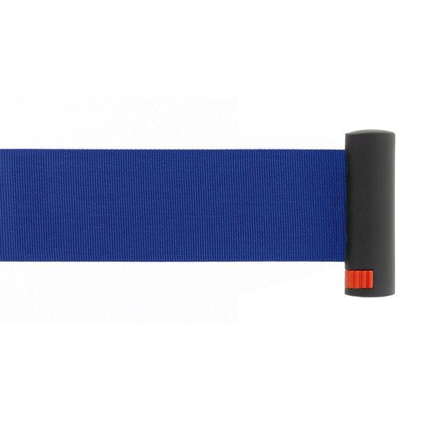Adatto 自動ロック機能付きべルトポールパーティション スタンダード ブルー 1台(2梱包)