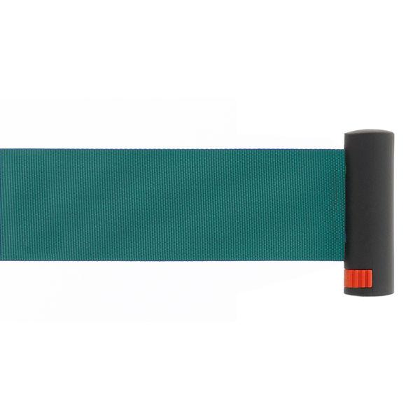 Adatto 自動ロック機能付きべルトポールパーティション スタンダード グリーン 1台(2梱包)