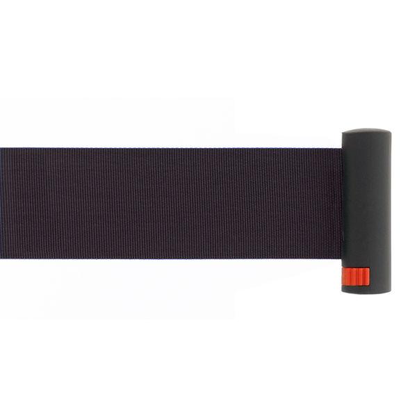 Adatto 自動ロック機能付きべルトポールパーティション スタッキング ブラック 1セット(4台(3梱包))