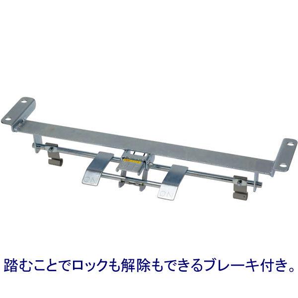 樹脂製2段台車 静音タイプ(ブレーキ付き) 300kg荷重 NP-304GS+FB 金沢車輌