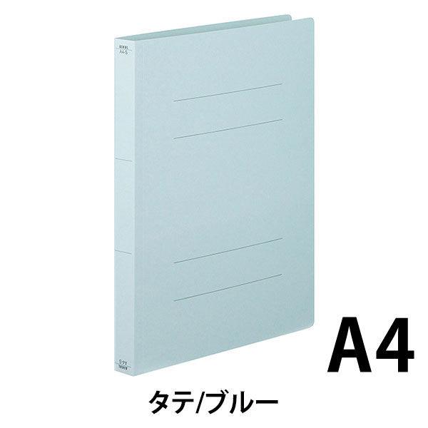 フラットファイル厚とじ 青A4縦 10冊