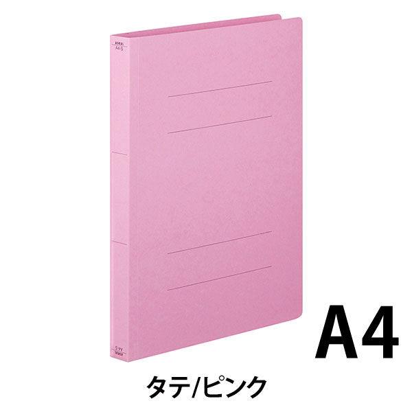 フラットファイル厚とじ 桃A4縦 10冊