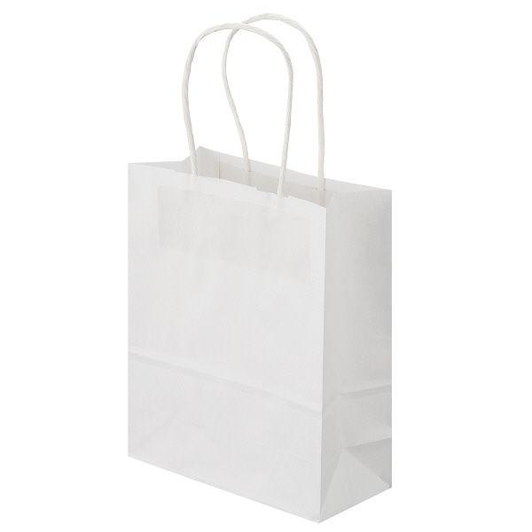 丸紐 手提げ紙袋 白 SS 50枚