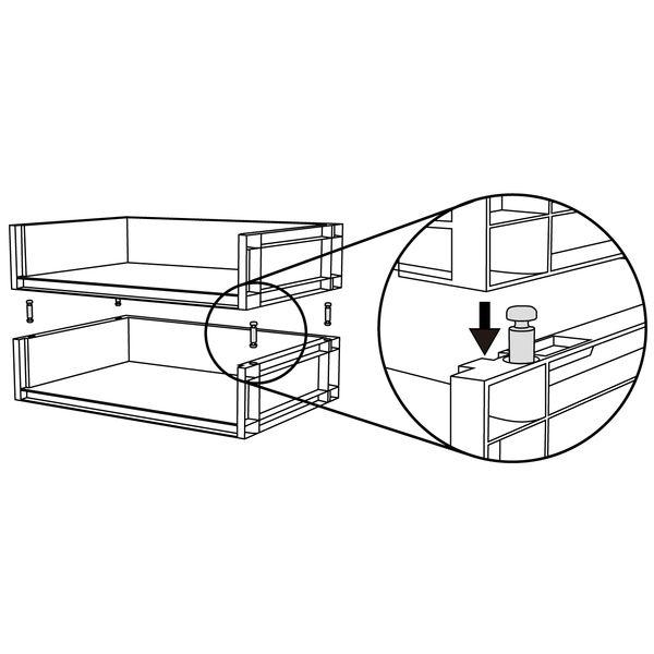 ポリプロピレン収納ラック・深型