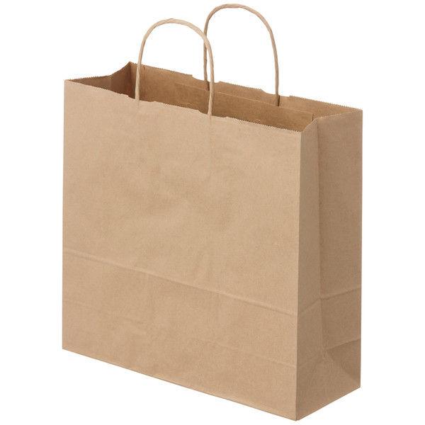 丸紐 手提げ紙袋 茶 M 100枚