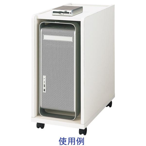 ガラージ PCワゴン YY-035PC 白 410110 (直送品) 1台