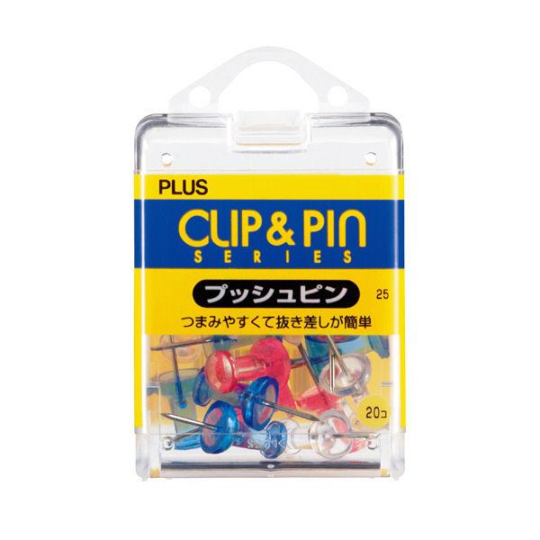 プラス プッシュピン クリアーMIX 20 CP-105P (直送品)