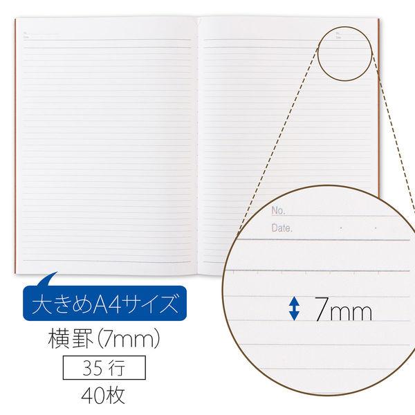 アピカ 無地表紙ノート A4 A罫 NT12N (直送品)