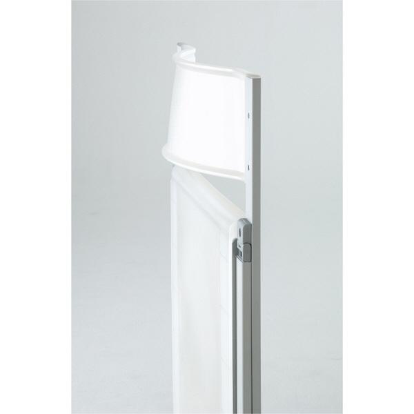 アーメット 折りたたみチェア Pocket フレーム:シルバー×背座:ホワイト 2脚セット (取寄品)