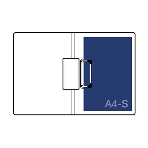 セキセイ クリップファイル A4S ブラック FB-2026-60 (直送品)