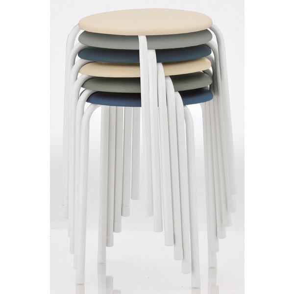 丸椅子(抗菌張地) ベージュ