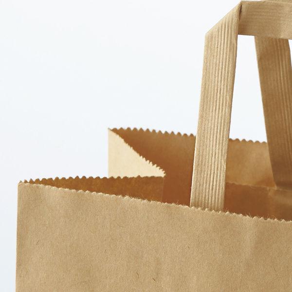 平紐 手提げ紙袋 茶 L 150枚