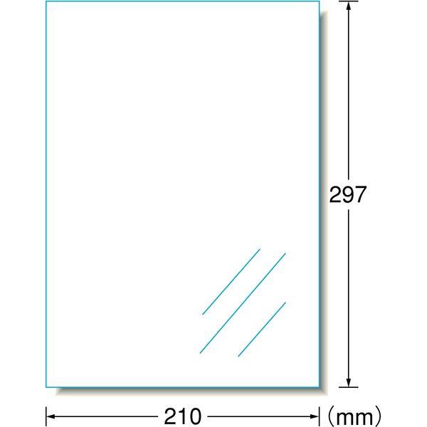 エーワン ラベルシール 表示用 レーザープリンタ フィルム 透明ツヤ消し A4 ノーカット1面 1袋(100シート入) 27003(取寄品)