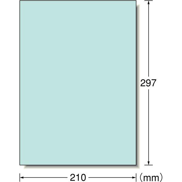 エーワン ラベルシール パッケージラベル プリンタ兼用 マット紙 ライトブルー A4 ノーカット1面 1袋(15シート入) 28491(取寄品)