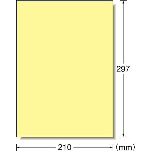 エーワン ラベルシール パッケージラベル プリンタ兼用 マット紙 クリーム A4 ノーカット1面 1袋(15シート入) 28494(取寄品)