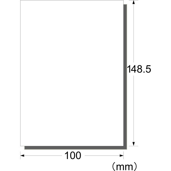 エーワン ラベルシール パッケージラベル インクジェット 光沢フィルム 白 はがきサイズ ノーカット1面 1袋(4シート入) 29334(取寄品)