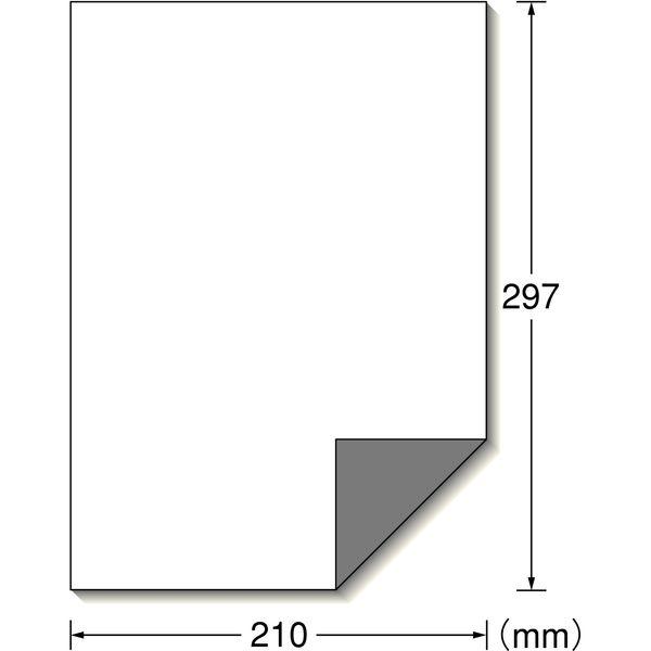 エーワン ラベルシール 透かしても読めない 訂正 修正用 プリンタ兼用 マット紙 白 A4 ノーカット1面 1袋(50シート入) 31660(取寄品)