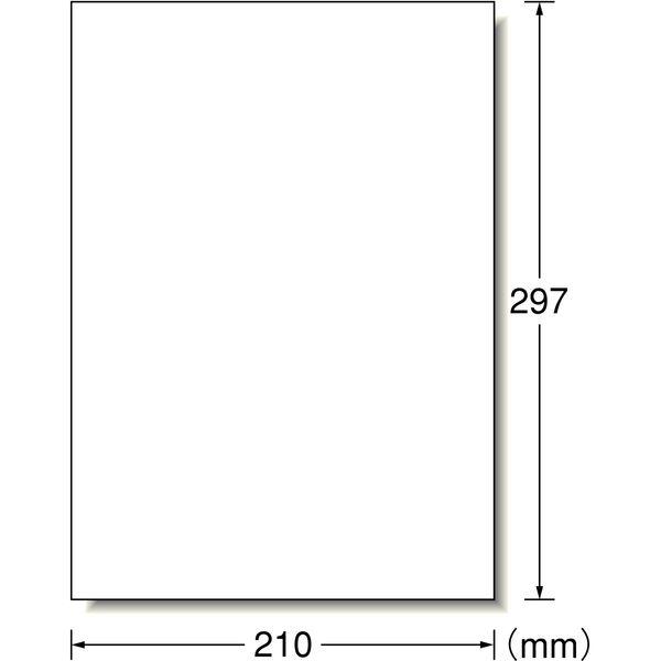 エーワン フリーラベルワイド ハイグレード(高画質)タイプ ノーカット 06207 1袋(100シート入) (取寄品)