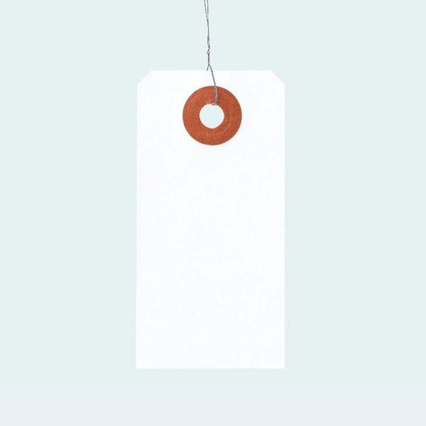 アスクル 「現場のチカラ」 針金荷札 6号(豆) 1パック(200枚入)
