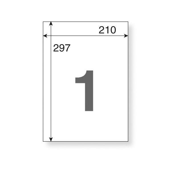 アスクル マルチプリンター再剥離ラベル ノーカット A4 1冊(20シート入)