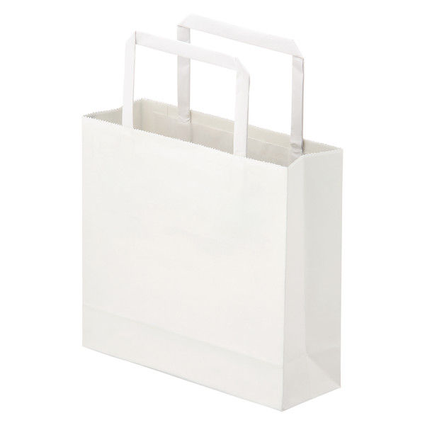 平紐 手提げ紙袋 白 3S 100枚