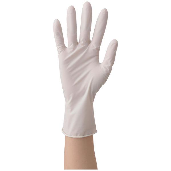 ファーストレイト ニトリルゴム手袋 ホワイト 35粉無し L FR-6303 1箱(100枚入) (使い捨て手袋)