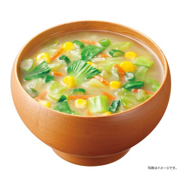 女子栄養大学 みそ汁 彩り野菜 1食