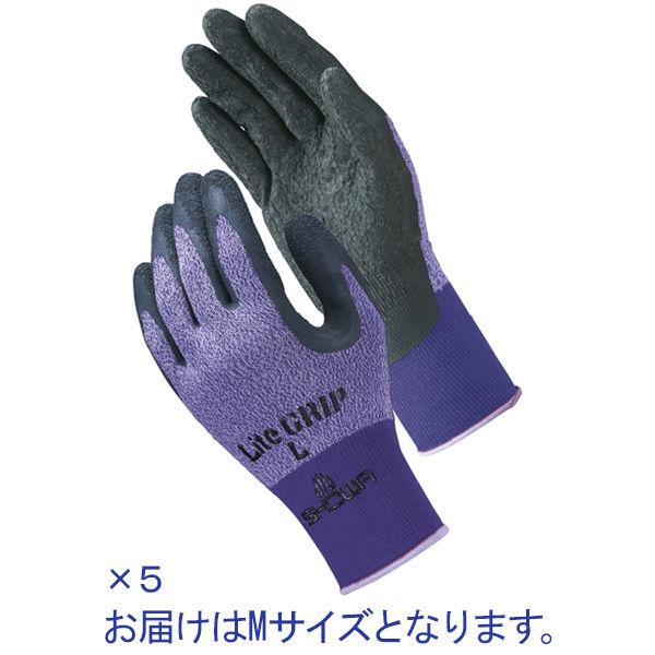 天然ゴム背抜き手袋  M パープル 5双