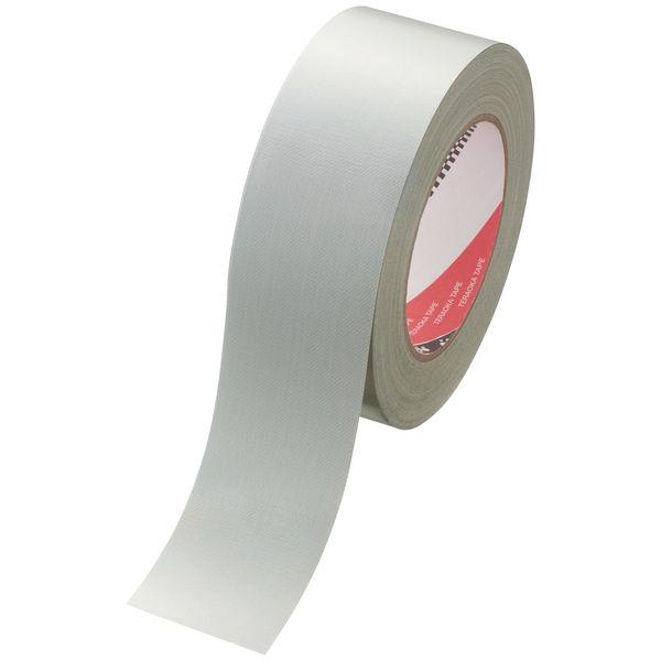 寺岡製作所 カラーオリーブテープ(カラー布テープ)No.145 銀(シルバー) 1セット(5巻) 幅50mm×長さ25m 厚さ0.31mm