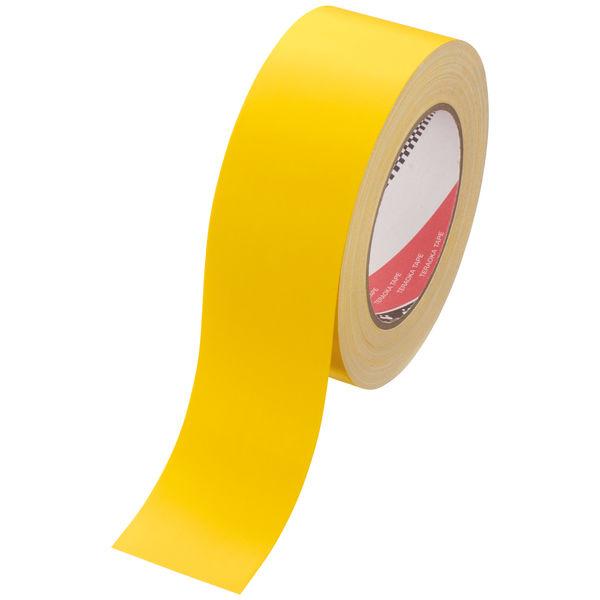 寺岡製作所 カラーオリーブテープ(カラー布テープ) No.145 黄 1セット(5巻) 幅50mm×長さ25m 厚さ0.31mm