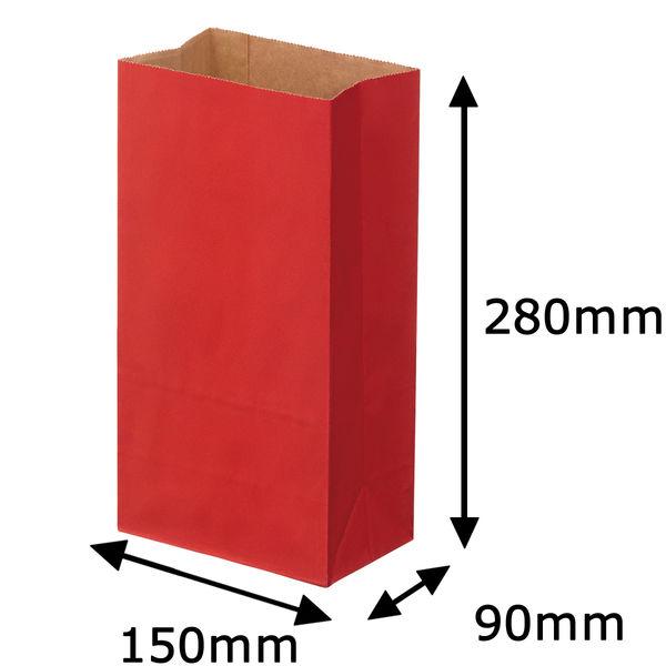角底紙袋 赤 6号 100枚