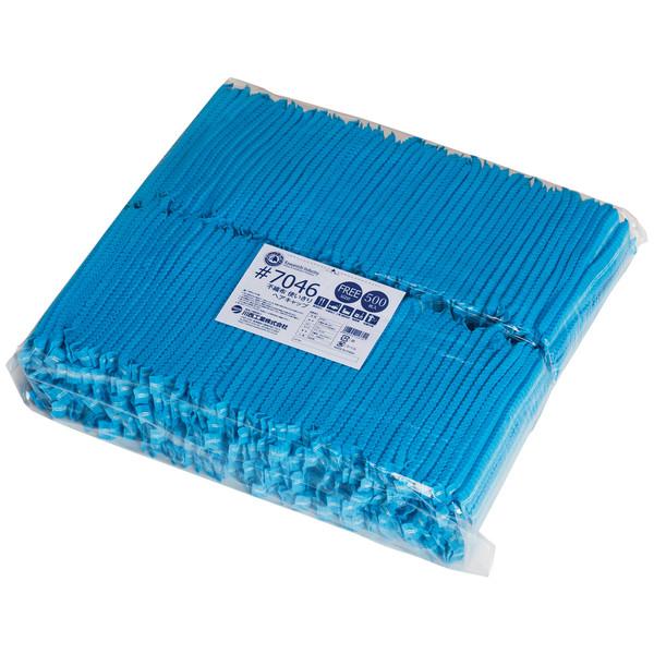 川西工業 不織布 使いきりヘアキャップ ブルー 1袋(500枚入)