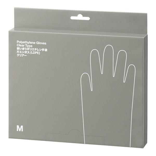 ポリエチレン手袋 M クリア 200枚入