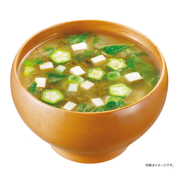 女子栄養大学みそ汁ネバネバ野菜と海藻3食
