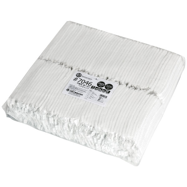 川西工業 不織布 使いきりヘアキャップ ホワイト 1セット(10000枚:500枚入×20袋)