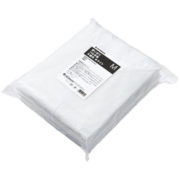 川西工業 「現場のチカラ」 不織布 使いきりつなぎ服 ホワイト M 1セット(30着:3着入×10袋)