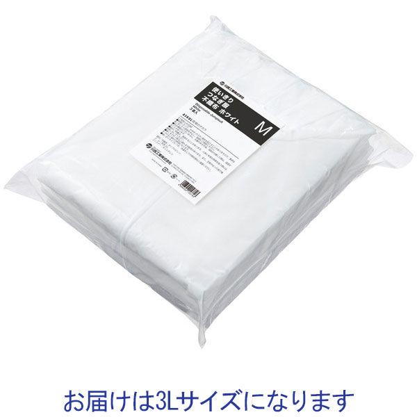 川西工業 「現場のチカラ」 不織布 使いきりつなぎ服 ホワイト 3L 1セット(30着:3着入×10袋)