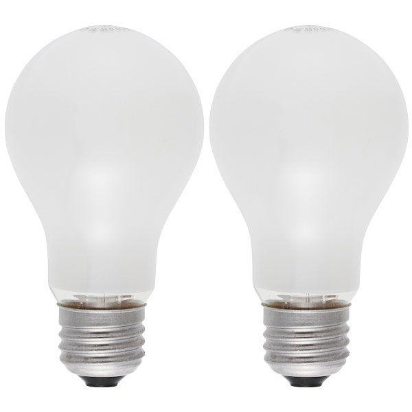 オーム電機 白熱電球100W LW100V95W60/2P 1箱(24個入)