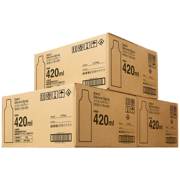 エーゼット 「現場のチカラ」 シリコーンスプレー420ml AL002 1セット(90本)