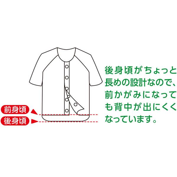 紳士半袖乾燥機対応ホックシャツ ホワイト L 01908-02 (取寄品)