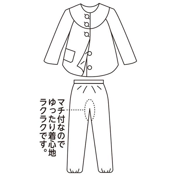 婦人着脱簡単ボタンパジャマ パープル S 38633-14 1セット (取寄品)