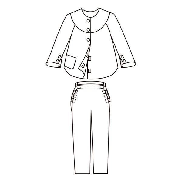 婦人スムース介護腰開きパジャマ パープル M 38644-11 1セット (取寄品)
