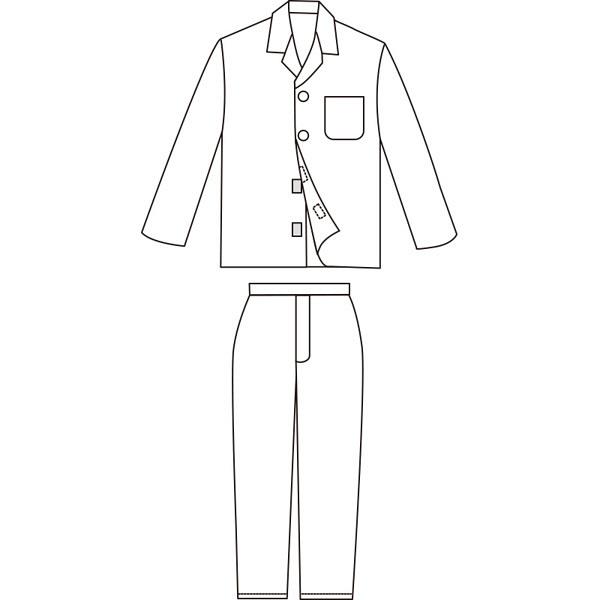 紳士ワンタッチテープパジャマ グレー M 38750-11 1セット (取寄品)