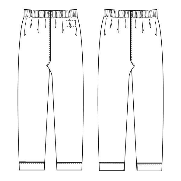 【メーカーカタログ】ナガイレーベン 患者衣ズボン ブルー S RG-1453 1枚  (取寄品)