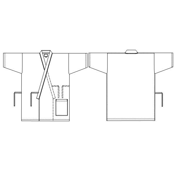 【メーカーカタログ】ナガイレーベン 患者衣じんべい型 ブルー EL EL RG-1451 1枚  (取寄品)