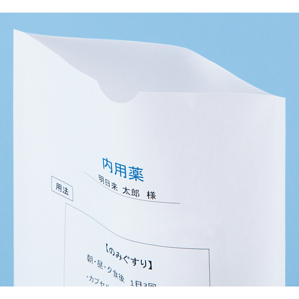 シンリョウ プリンター薬袋/A6R/無地 500301 1箱(2000枚入)