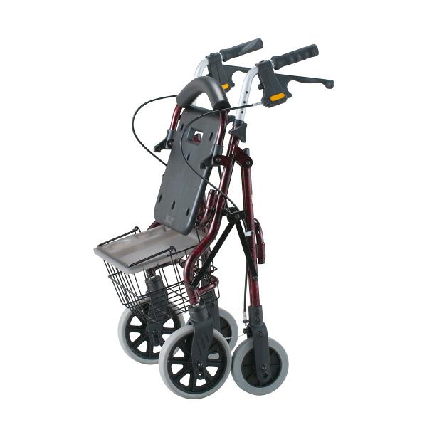 歩行車 イーストアイ セーフティーアーム ロレータII ハイタイプ RSA2-R レッド (取寄品)