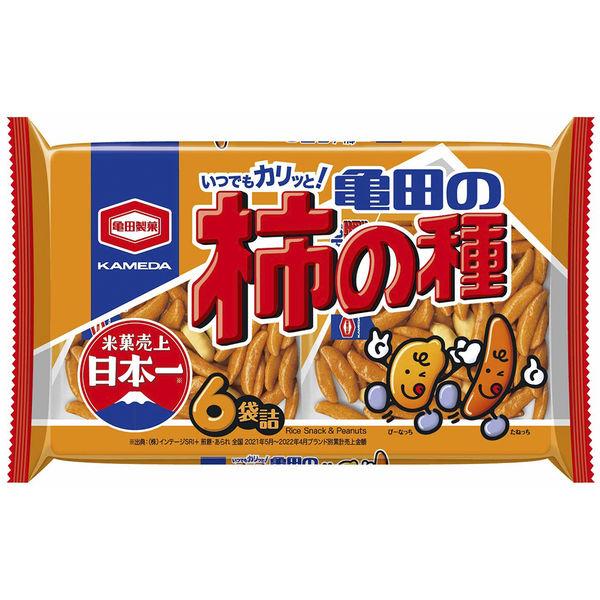 亀田の柿の種6袋詰 200g 3袋