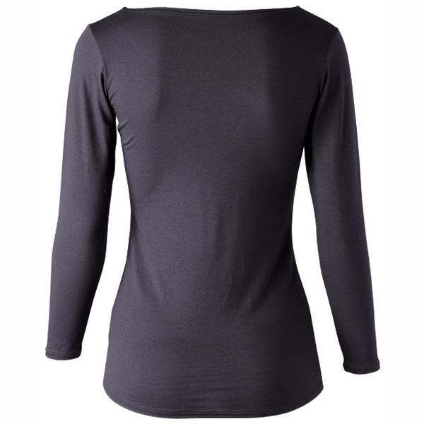 インナーシャツ ホットシャツ クルーネック 9分袖 レディス M フットマーク (取寄品)